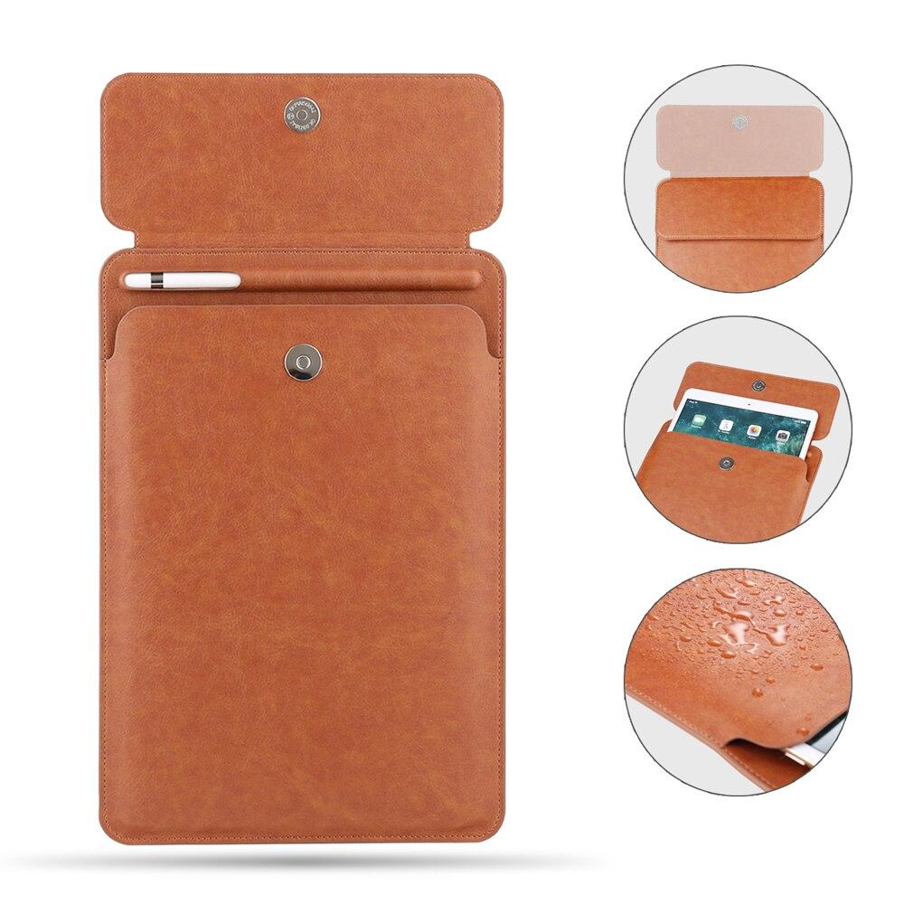 زر جيب غطاء للأكمام لباد برو 10.5 11 بوصة كيس مزموم مع قلم رصاص فتحة حافظة لجهاز iPad Pro 9.7 الإصدار FHX-79k