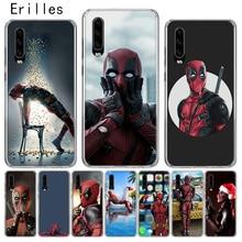 Erilles Luxury Hawei P10 P20 P30 lite Case For Huawei Mate 10 Pro 20 lite Cover P Smart 2019 Shell Deadpools Man Coque