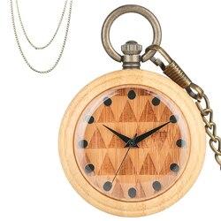 Puro De Madeira Pingente Quartzo relógio de Bolso Colar Corrente do Relógio Requintado Relógio de Bolso Unisex Bronze Fob Relógio de Luxo