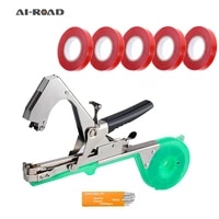 a1 road tying machine set garden plant tape tool tapener with 5pcs tape set for grape cucumber pepper flower fruit tape machine