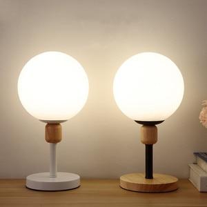 Modern Table Lamp Led Wood Nordic Lighting Fixtures Living Bedroom Study Read Bedside Child Minimalist Indoor Decor Desk Lights