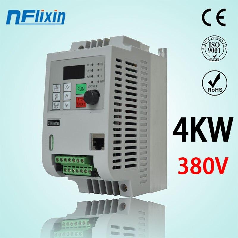 4kw trifasico fase de entrada saida fase 3 ac380v instrumento controlador de conversor