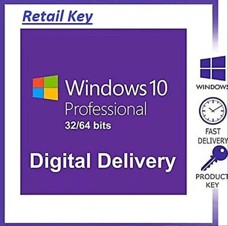 2021 -Windows 10 Pro professionnelle 32/64bit licence ALL language✅ 100% original ✅100% trusted seller