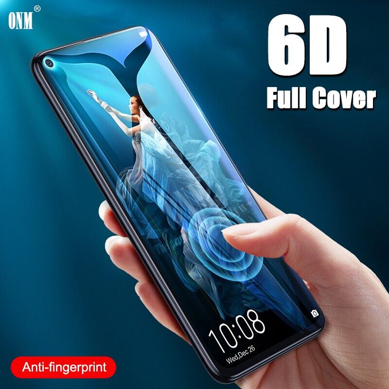 Vidrio Templado 6D para Huawei Honor 20 Pro, cubierta completa, película protectora de pantalla curvada para Huawei Honor 20, vidrio Protector