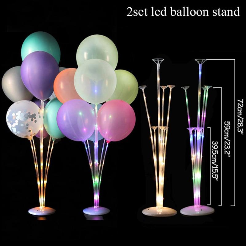 LED Ballon stojak kolumna z lampy jarzeniowe ciąg z dekoracji ślubnej dla dorosłych dekoracje na przyjęcie urodzinowe balon dla dzieci prezent globos