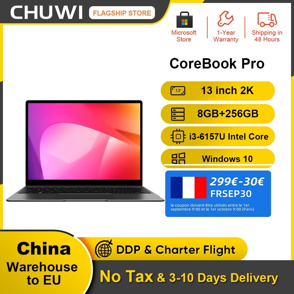 Promo CHUWI CoreBook Pro 13inch Laptop Intel Core i3-6157U Dual Core 8GB RAM 256GB SSD Windows 10  Backlit keyboard Bluetooth 4.2