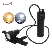 xhp70 2 led diving flashlight waterproof underwater video 100m powerful canister split type xhp70 scuba dive torch lamp light