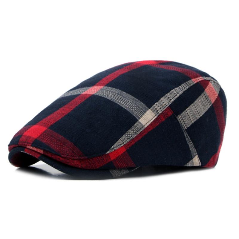 Classic Englad Style Plaid Berets Caps For Men Women Casual Unisex Sports Caps Cotton Berets Hats Bo