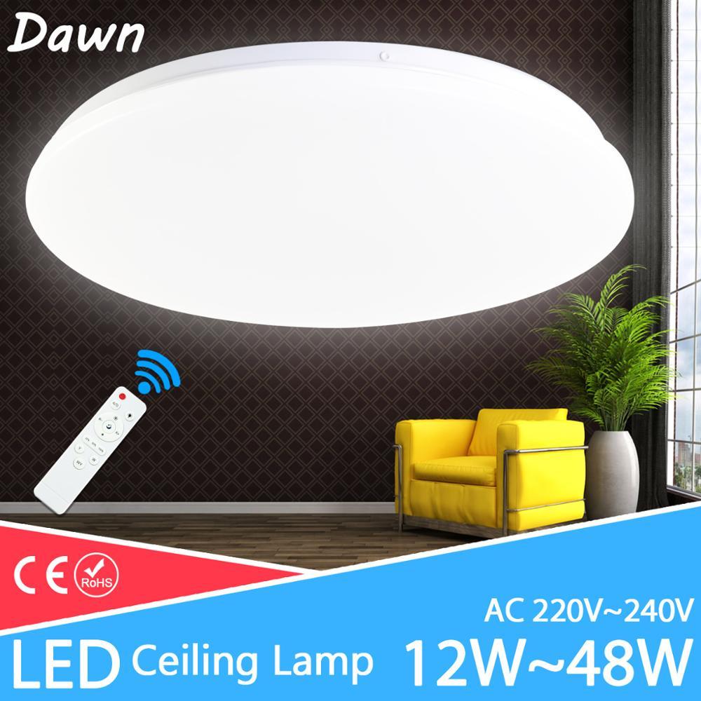 Lámpara de techo moderna 48W 36W 24W AC220V 240V accesorio de iluminación de techo led lámpara led de dormitorio sala de estar
