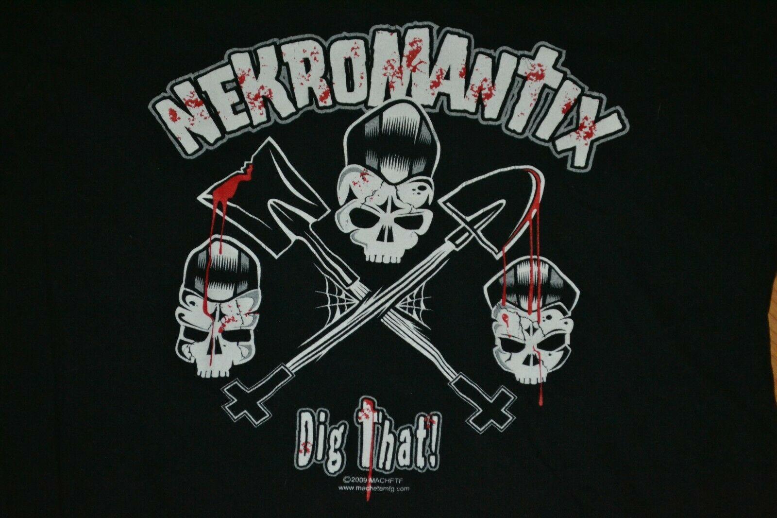 Mujer Nekromantix Dig esa banda concierto camiseta Jrs Xxl Nice Danish Psychobilly