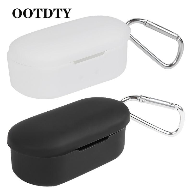 OOTDTY Мягкий силиконовый чехол для наушников противоударный защитный чехол для QCY T2C air pods чехол