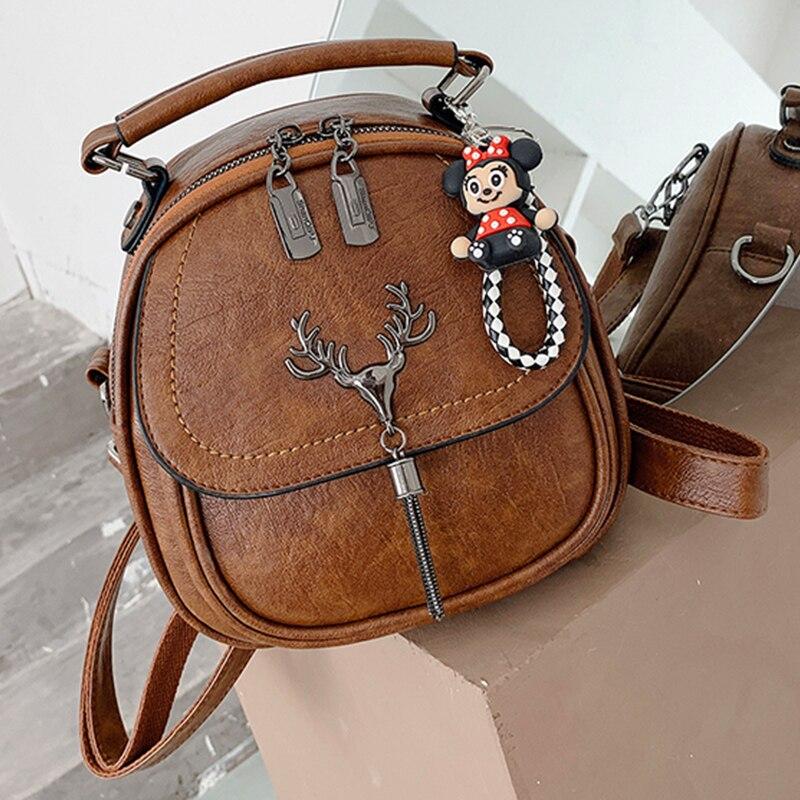 Excellent Small Leather Designer Backpack Ladies Shoulder Bag Multifunction Backpacks for School Teenagers Girls Travel Bagpack