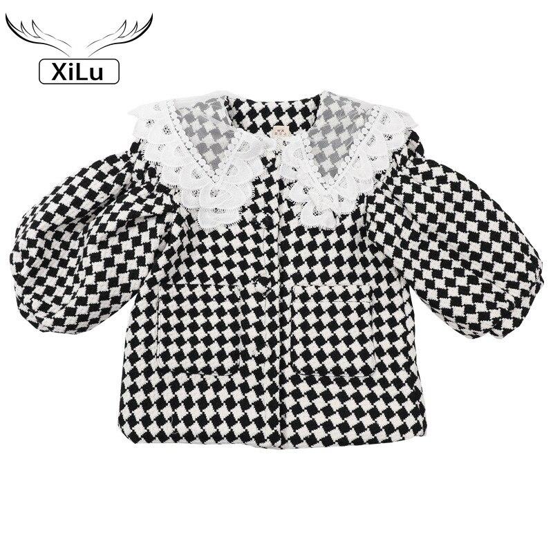 Осенняя клетчатая куртка для девочек, детские куртки для девочек, осенняя одежда для маленьких девочек, зимняя одежда для маленьких девочек...