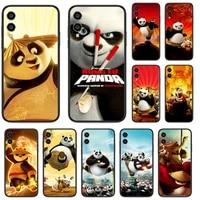 cartoon panda cute phone case for huawei honor 6a 7a 7c 8 8a 8x 9 9x 10 10i 20 lite pro play black shell painting etui fashion
