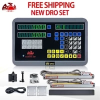 hxx linear scale 2 axis digital readout dro set lathe milling machine tools with 2 pieces precision 5um glass optical ruler