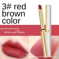 yiyiace lipstick matte small tube lip gloss lip glaze long lasting sater ccolor makeup cosmetics brown water proof lip gloss