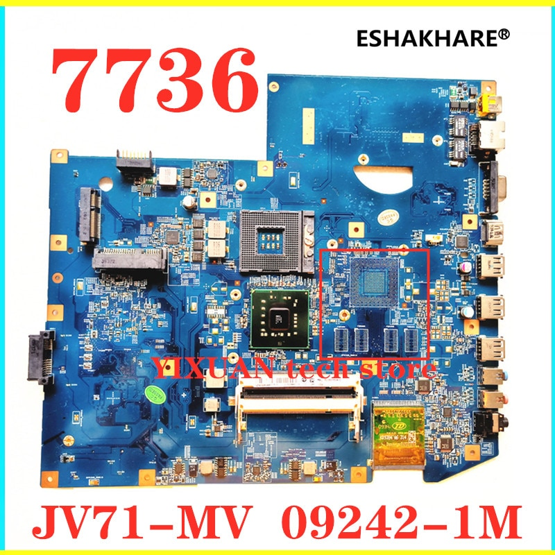 Para ACER Aspire 7736 7736Z Laptop placa base DDR2 JV71-MV 09242-1M 48.4FX01.01M placa base 100% probado