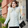 2019 artı boyutu 4XL kadınlar kış ceket bayanlar rahat İnce kapşonlu kürk yaka ceket kadın dış giyim 5 renk Parka Mujer invierno