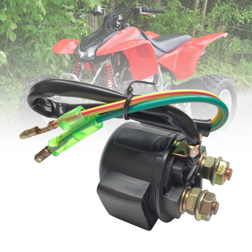 Прямая поставка! Реле стартера мотоцикла, простая установка, износостойкое черное профессиональное Сменное реле соленоида для Honda