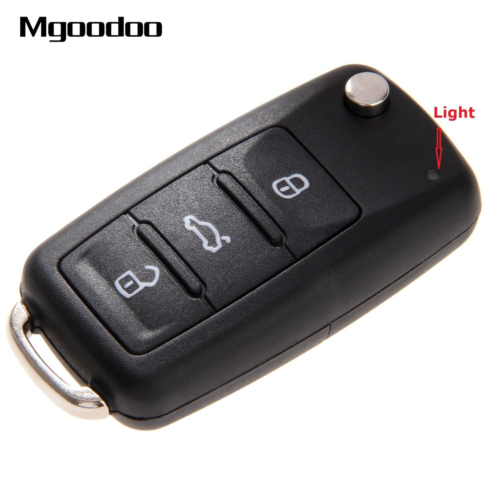 Складной Корпус автомобильного ключа дистанционного управления с 3 кнопками, чехол-брелок для VW Volkswagen Golf Mk6 Tiguan Polo Passat CC SEAT Skoda Octavia
