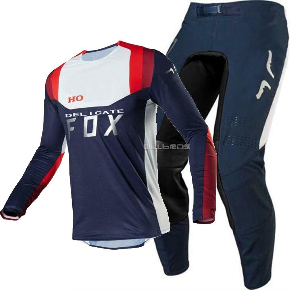 Delicado Fox camiseta de Motocross pantalones 2020 conjunto de engranajes para Honda traje de motocicleta ATV ENDURO MX Cruz