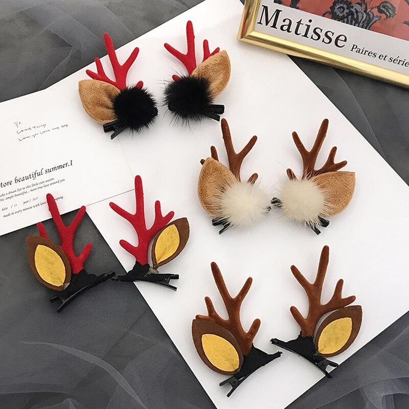 Nuevos Clips pasadores de horquilla hechos a mano bonitos para niñas y bebés, accesorios para el cabello para niños y mujeres, sombrerería de fiesta, regalo de Navidad