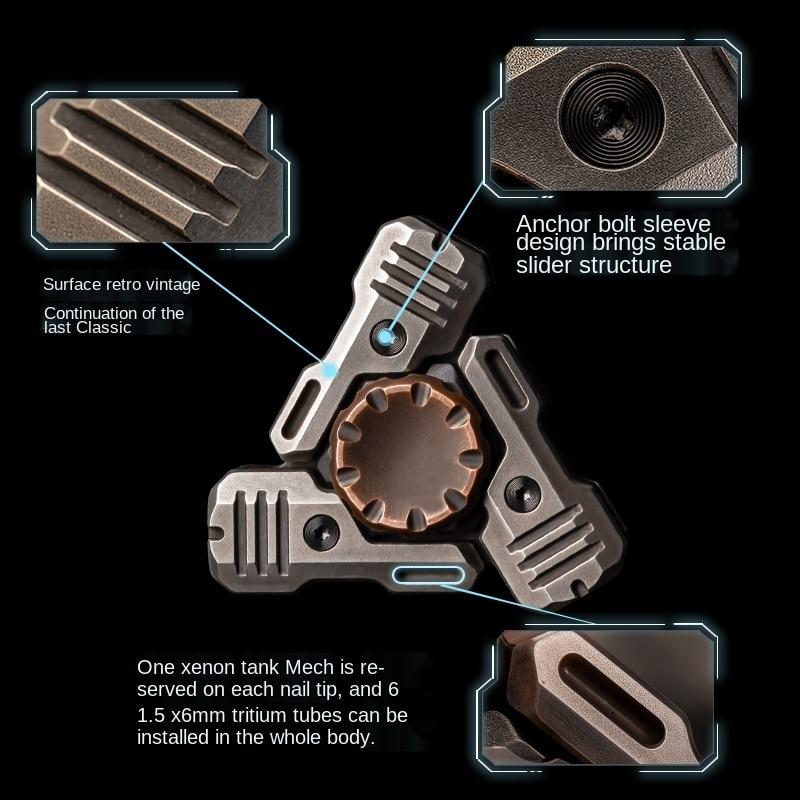 Acoustic Mech Fingertip Gyro Cyberpunk Metal Pressure Reduction Toy enlarge