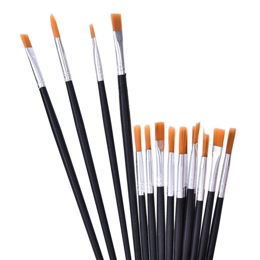 6-12 pcs Painting Brush Set Nylon Hair Watercolor Gouache Acrylic Oil Painting Brushes Drawing Art Supply