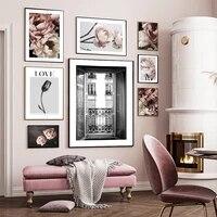 Affiches de Roses et de pivoines  toile  peinture de fleurs Roses  photographie murale  photos dart  decoration de maison moderne