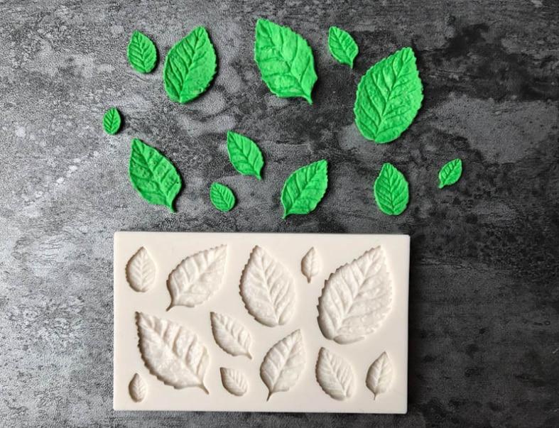 Leaf fondant chocolate cake mold DIY liquid silicone mold