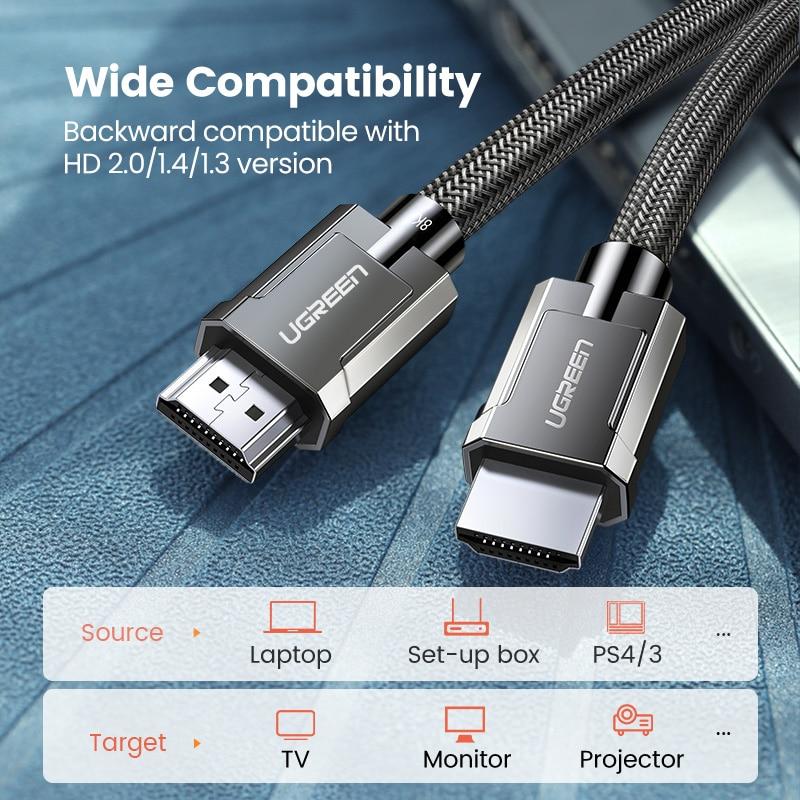 Ультра высокоскоростной кабель-разветвитель HDMI eARC HDR10 + HDMI2.1 кабель