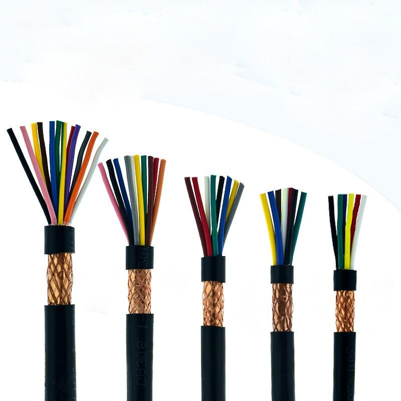 5 metros RVVP apantallado de alambre eléctrico 6 7 8 10 12...