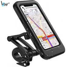 Bike Phone Holder Waterproof Phone Mount 360 Rotation Motorcycle Bicycle Handlebar Mobile Adjustable Holder Compatible for Phone