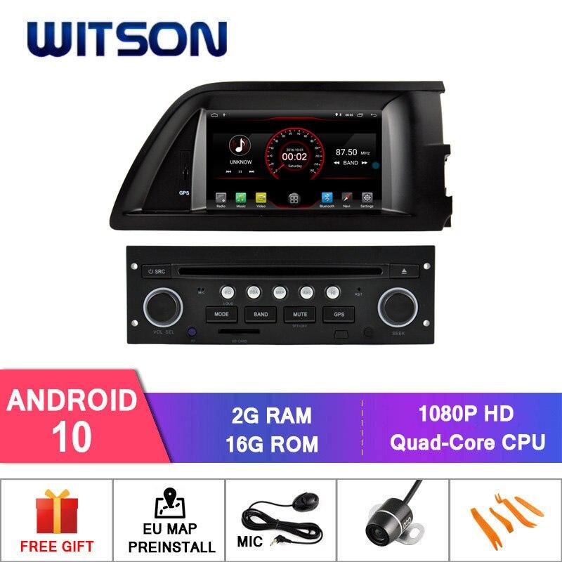 WITSON Android 10.0 2 go RAM 16 go autoradio FLASH pour CITROEN C5 + WIFI + DSP + DAB + OBD + TPMS + DVR