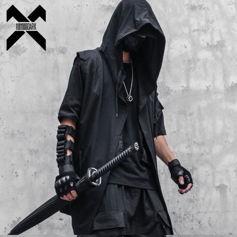11 BYBB'S الظلام الأسود معالج مقنعين سترة معطف الرجال 2021 الخريف الصيف جاكيت بلا إكمام معطف الرجال عادية Techwear WB184