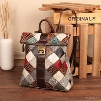 womens genuine leather backpack girl school bag vintage natural cowhide laptop female daily back pack travel packsack for lady