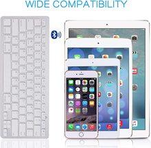 Clavier sans fil Ultra-mince pour ordinateur portable de bureau Tabelt et pour Apple iPad iPhone MacBook Android Windows PC clavier Bluetooth