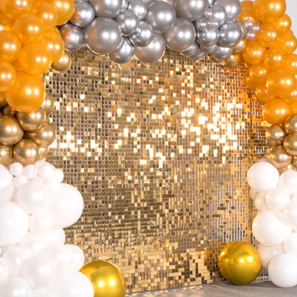 Light Gold Shimmer Sequin Wall Panel Sparkle Metallic Active Spangle Art Decor Backdrops Photo Party Event Marketing Venue show