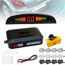 LED Display Buzzer 4 Sensors Car Parking Sensor Flat Reverse Parking Sensor Kit Auto Backup Radar Detector Monitor System