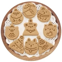 japan mini christmas cookie molds for baking biscuit moulds 3d cartoon triangle cookie tools kitchen baking tool sets
