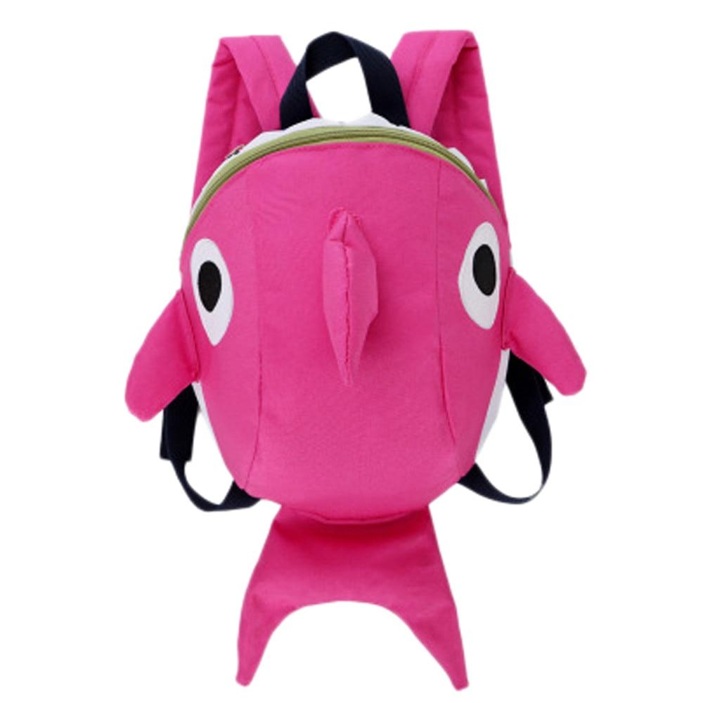 3D Cartoon Shark Baby Bag Boy Girl Waterproof Children Backpacks Kids Small Bag Girl Cute Animal Prints Travel Bags Toys Gifts