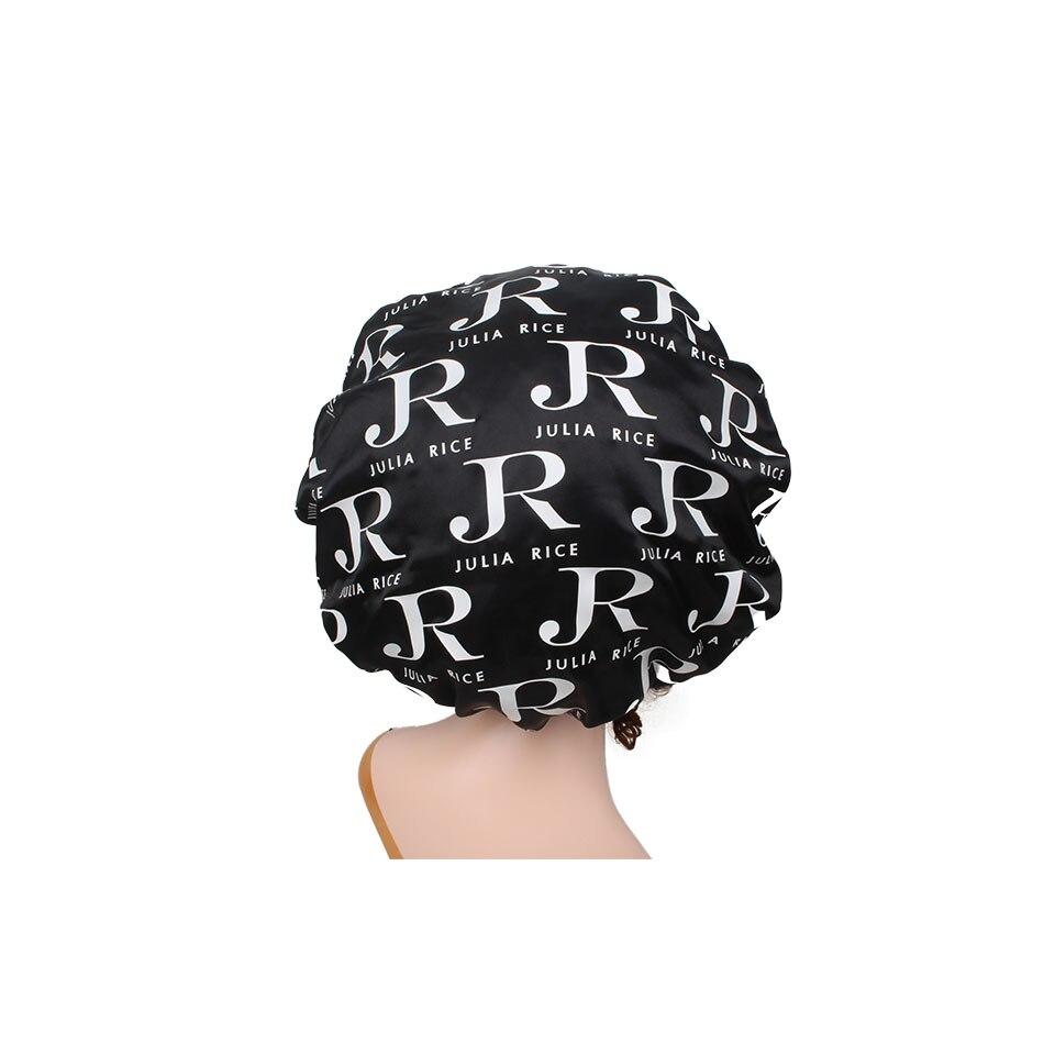 Cinta para la cabeza frontal de satén de doble capa con impresión de logotipo repetido personalizado