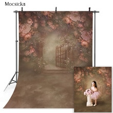 Садовый цветочный портрет для новорожденных детей задний план для фотографии абстрактная текстура для девочек цветочный художественный фотосессия фотореквизит