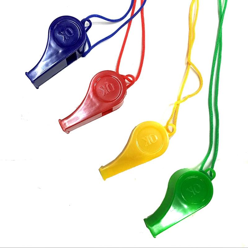 1 pçs escola apito esportes coloridos assobios competição esportes de fitness ao ar livre apito clube equipamentos esportivos cor aleatória