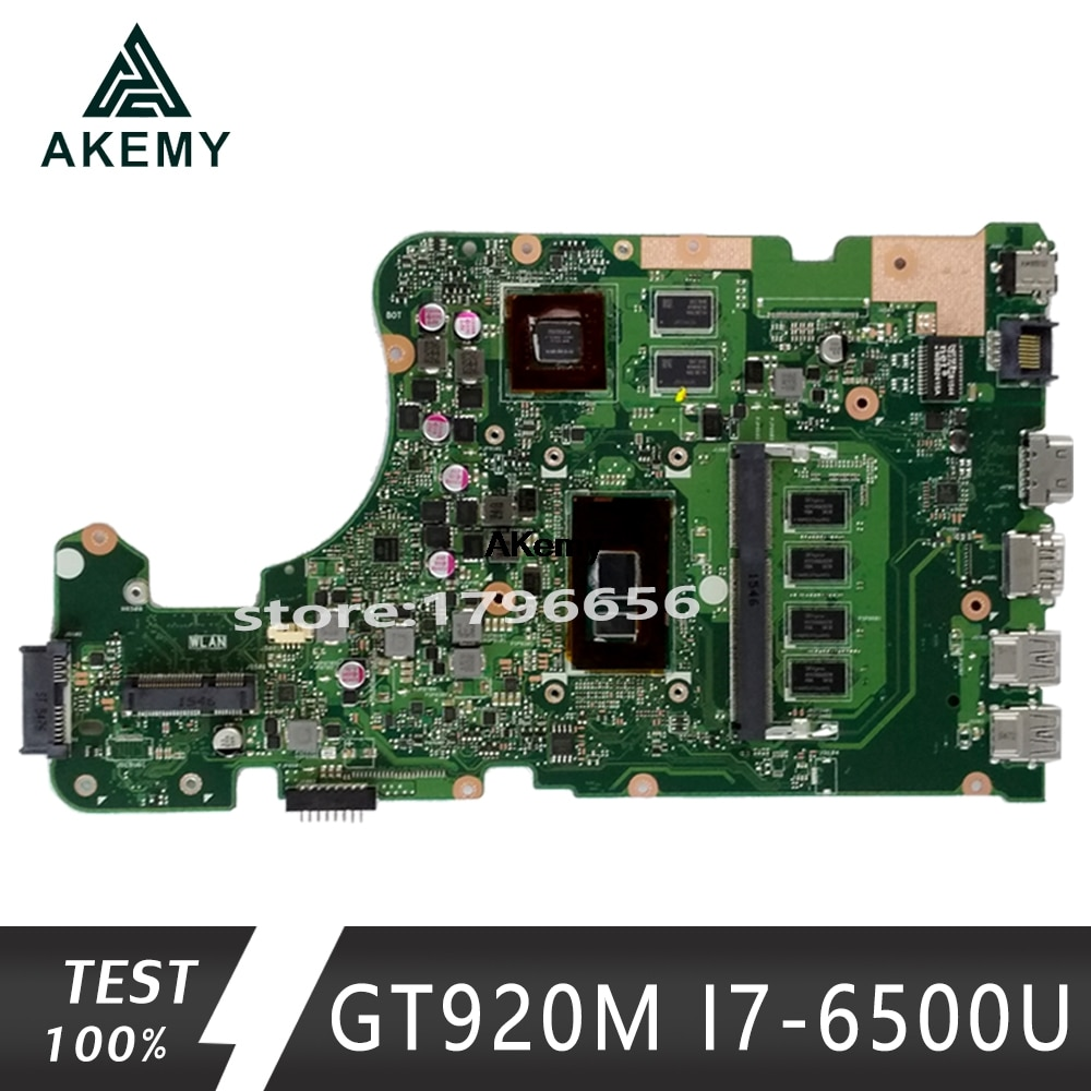 X555UJ اللوحة لابتوب For Asus X555UJ X555UF X555UQ X555UB X555U F555U A555U K555U GT920M I7-6500U الأصلي mianboard