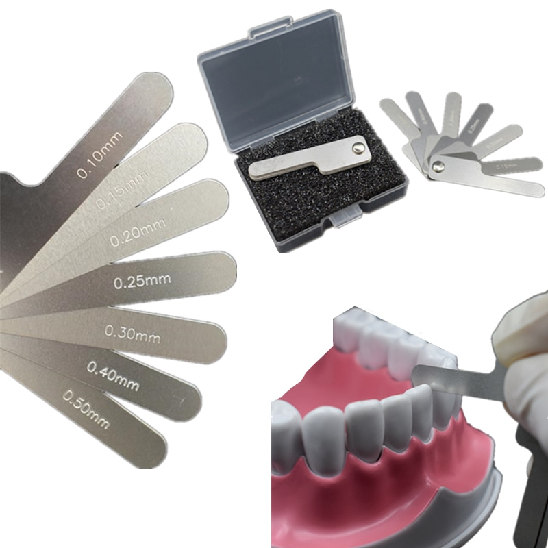 aliexpress.com - Oral Dental Interproximal measuring ruler Measure Tooth Gap Stainless Steel Reciprocating IPR System Orthodontic Treatment