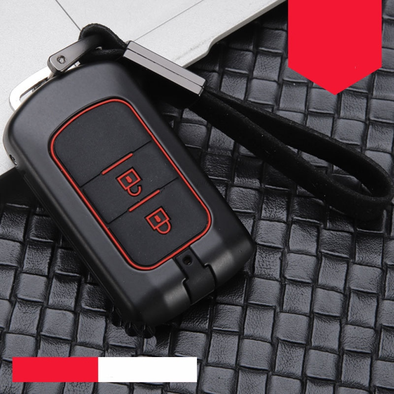 Liga de zinco + silicone carro inteligente chave caso capa kit corrente para mitsubishi outlander lancer eclipse cruz ex asx colt grandis pajero