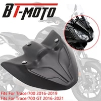motorcycle front fairing fender fits for yamaha tracer 700 gt tracer700 2016 2020 2021 beak extension nose cone extender cover