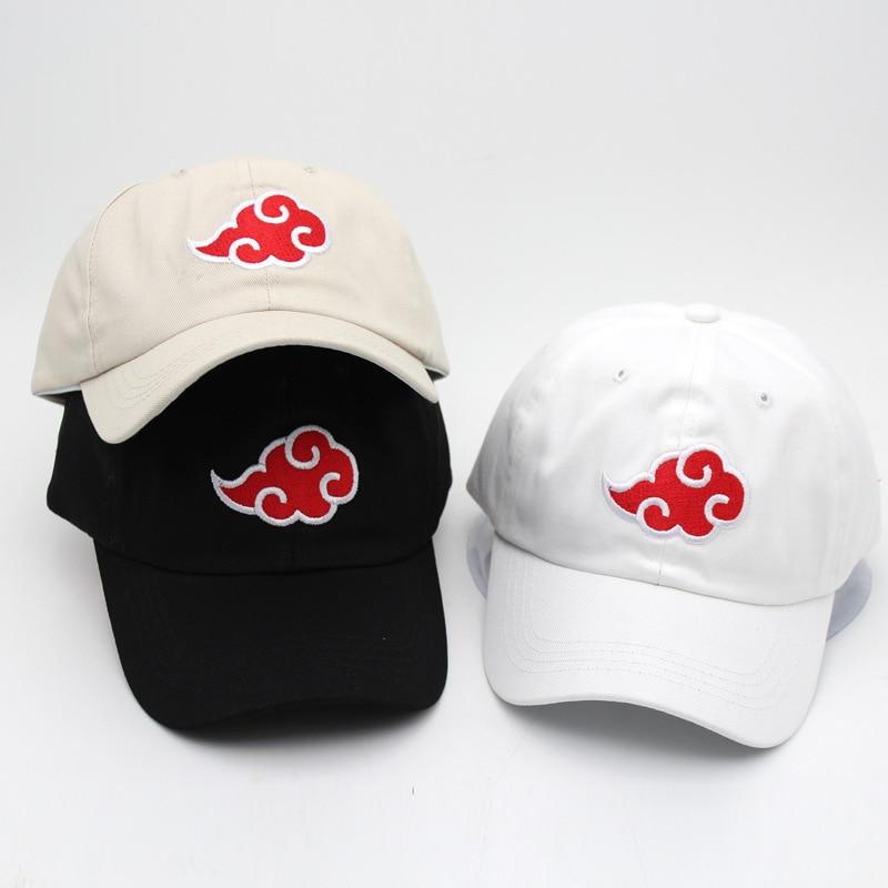Аниме Наруто Акацуки шляпы для косплея Uchiha Itachi хлопок Красное Облако вышивка Кепка s бейсболка для путешествий уличная шляпа Регулируемая новая