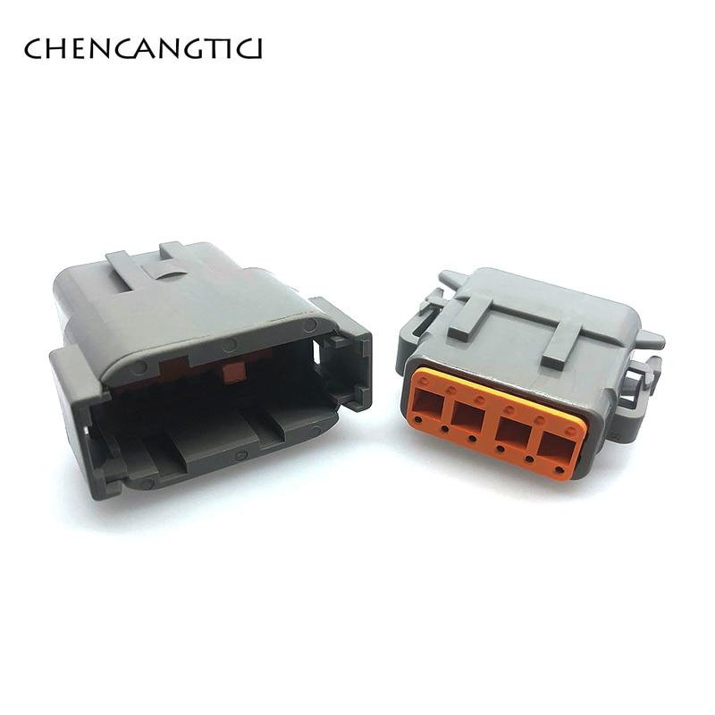 1 set Deutsch DTM 12 Pin/way Enhanced Seal Auto Waterproof Male Female Electrical Connector Plug DTM06-12S DTM04-12P 20-24AWG